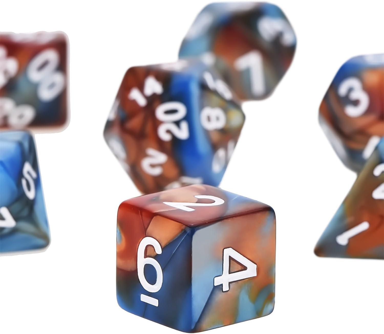 Gofriend 7 x 7 49 PEZZI poliedrico dadi con i sacchetti Gioco Dadi Set in 7 COLORI