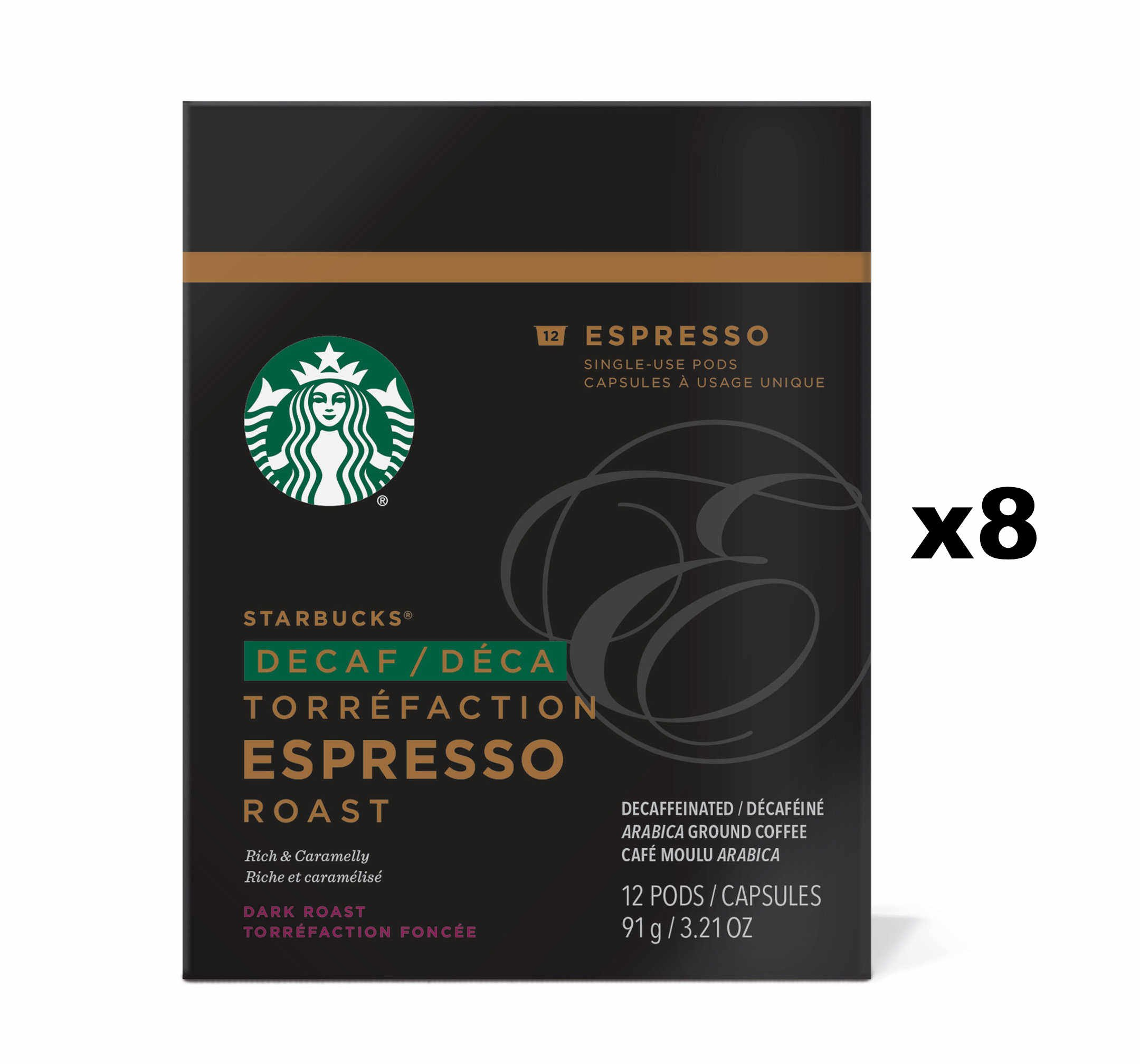 Starbucks Decaf Espresso Roast Espresso Verismo Pods (96 Count)