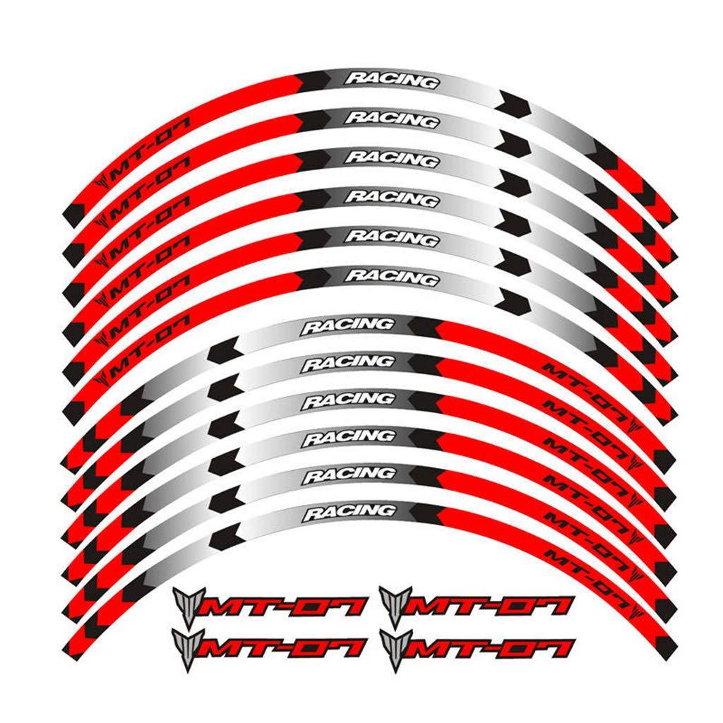 psler Motorrad Felgenrandaufkleber Rim Stripes Aufkleber F/ür Yamaha SUPER TENERE