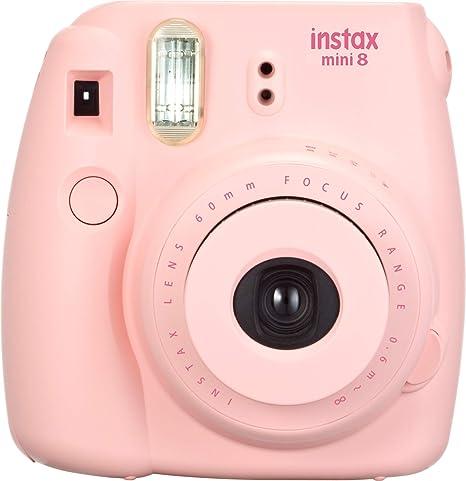 Fujifilm Instax Mini 8 - Cámara analógica instantánea (flash, velocidad de obturación fija de 1/60 s), color rosa: Fujifilm: Amazon.es: Electrónica