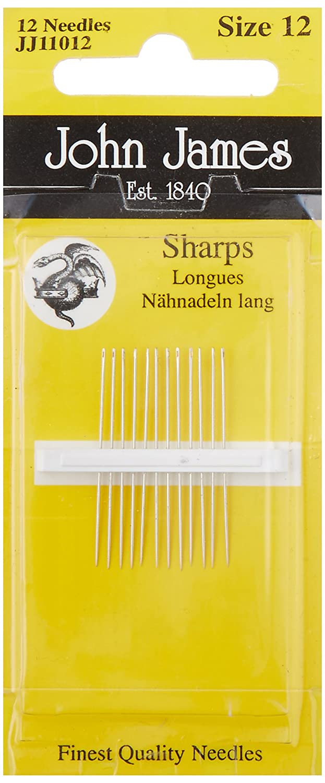 Colonial Needle JJ110-10 20 Count John James Sharps Needle, Size 10 Colonial Needle Co