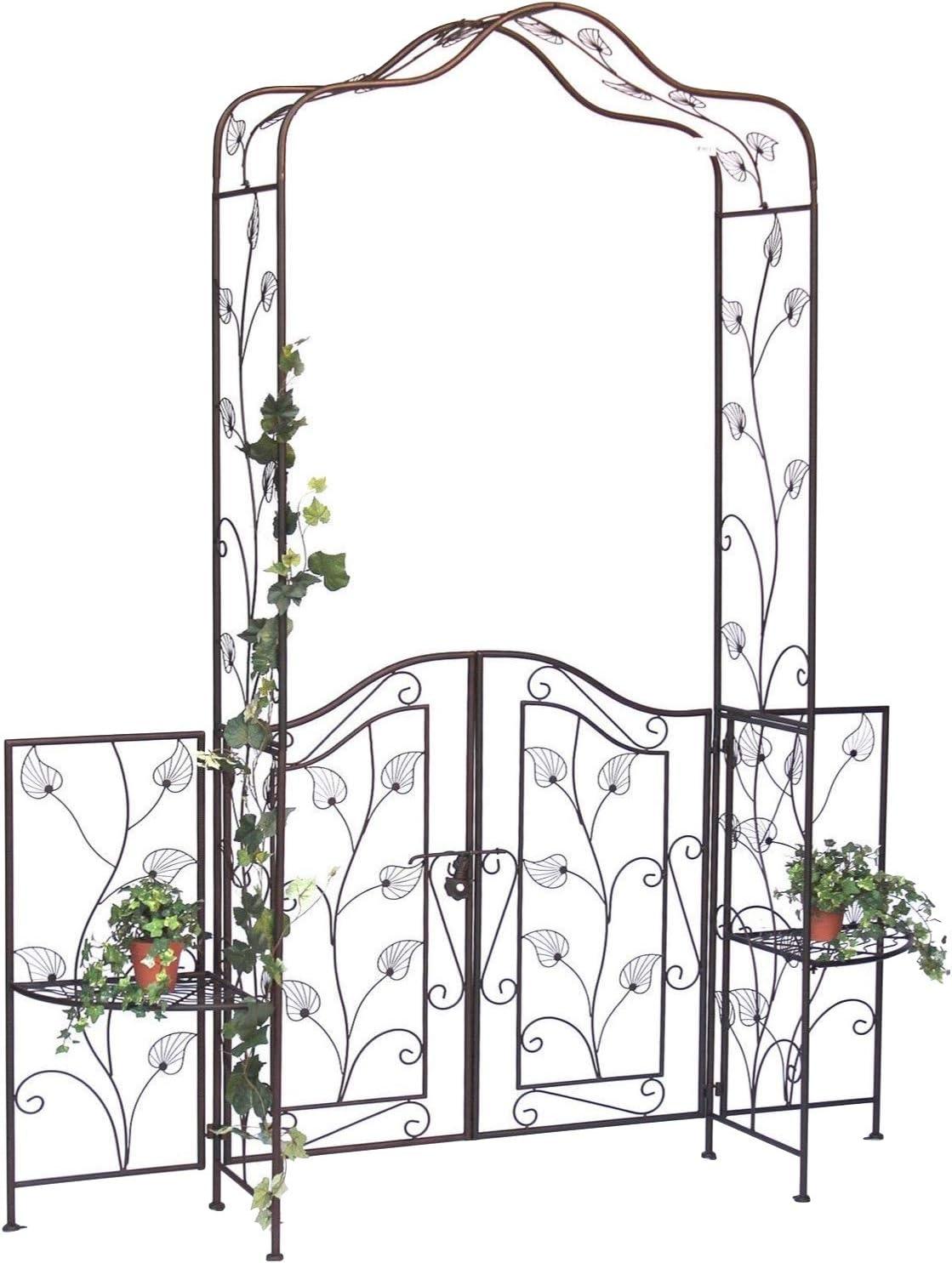 DanDiBo 101759 - Pérgola con Puerta (Metal, 236 x 186 cm, Hierro Forjado)