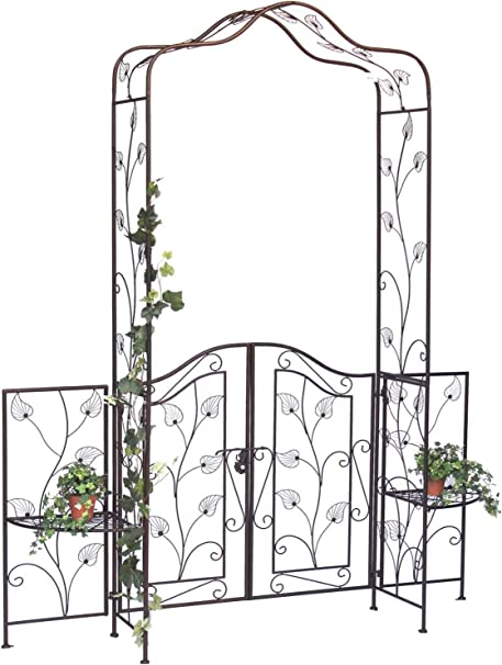 DanDiBo 101759 - Pérgola con Puerta (Metal, 236 x 186 cm ...