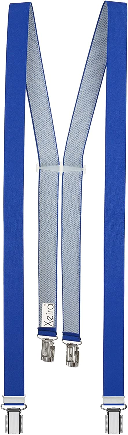 Made in Germany Uni Colours 25mm wide Braces by Xeira for Women with 4 clips available in many Colours