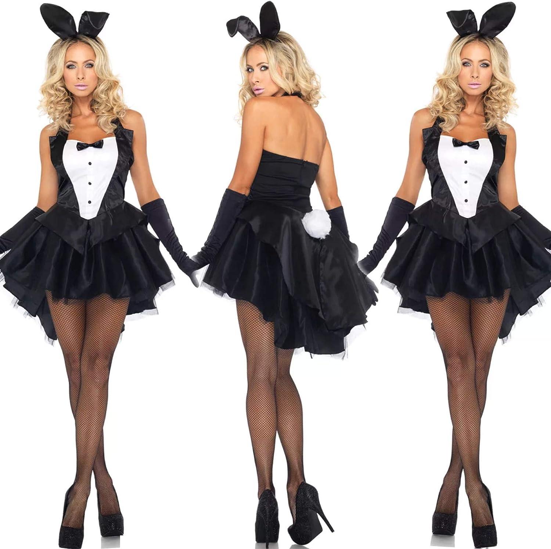 thematys® Sexy Playboy Bunny Vestido - Conjunto de Disfraces para ...