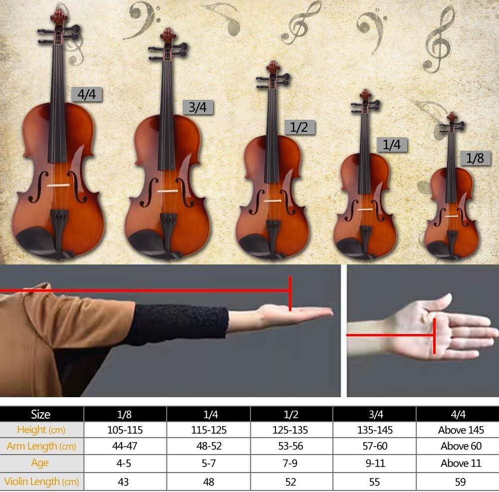 Goodsv - Estuche para violín acústico 4/4, diseño de lazo, color natural: Amazon.es: Instrumentos musicales