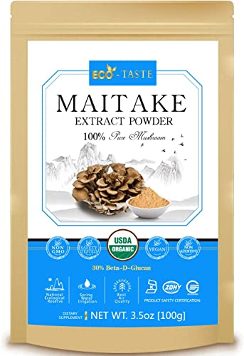 Maitake Mushroom Extract Powder 5 1,USDA Organic, 30 Beta-D-Glucan Supplement,3.5oz