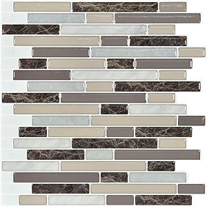Art3d 10-Piece Stick on Backsplash Tile for Kitchen, 12