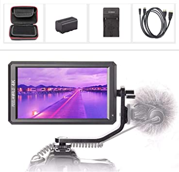 ESDDI 5 Inch Camera Field Monitor Full HD IPS Screen Support 4K HDMI Input 1920 x 1080 Rechargeable Li-on Battery Included with Battery Charger and USB Suitable for Canon Nikon Sony Camera