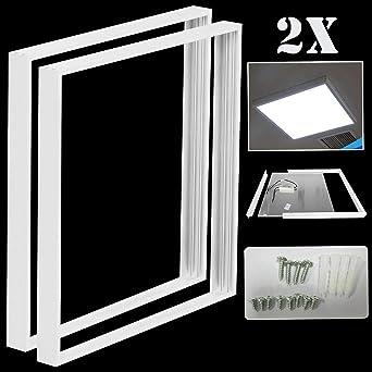 Surface Mount Frame Kit For 600 x 600 mm LED Panel Ceiling Light Aluminium White