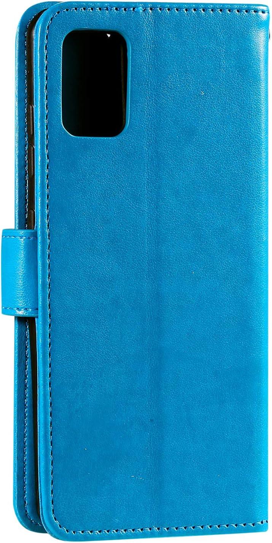 DOHHA100990 Blau H/ülle Leder Case mit Standfunktion Magnetverschluss Flipcase Klapph/ülle kompatibel mit Samsung Galaxy A51 Docrax Galaxy A51 Handyh/ülle