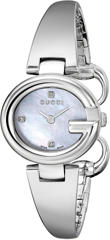 Gucci YA134504 - Reloj para Mujeres, Correa de Acero Inoxidable Color Plateado
