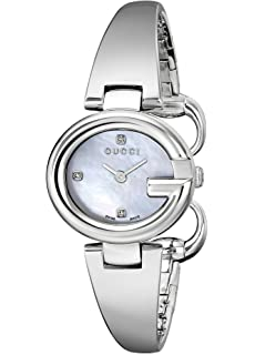 41bbba474bb Gucci Guccissima Stainless Steel Diamond-Accented Bangle Women s  Watch(Model YA134504)