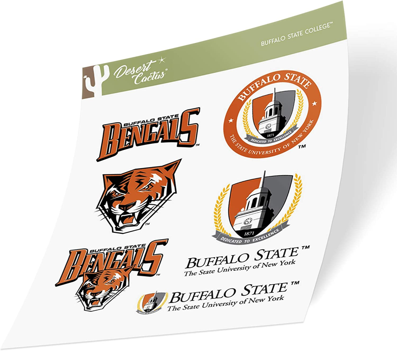 Buffalo State College SUNY Bengals NCAA Sticker Vinyl Decal Laptop Water Bottle Car Scrapbook (Type 2 Sheet)
