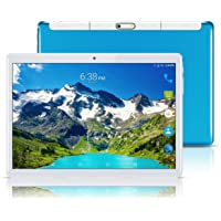 "Android 8.1 Tablet 10 Inch (10.1""),Octa Core,3G 4G Dual SIM Phablet Tablets PC,Dual Camera,4GB Ram+64GB Disk,WiFi,GPS,OTG (Blue)"