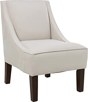 Amazon Com Skyline Furniture Swoop Arm Chair In Velvet Light Grey Furniture Decor