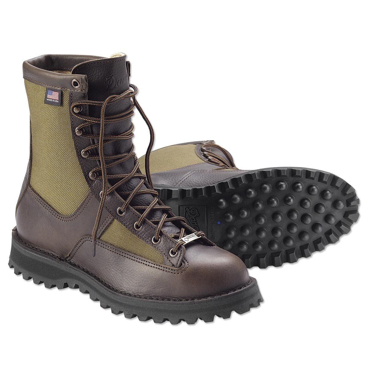 Danner grouse Boot 8'' height Brown Hunting Boots   Gore-TEX (GTX) Waterproof Hiking Leather Boots   Modern Battlefield Combat Boot (7 D)