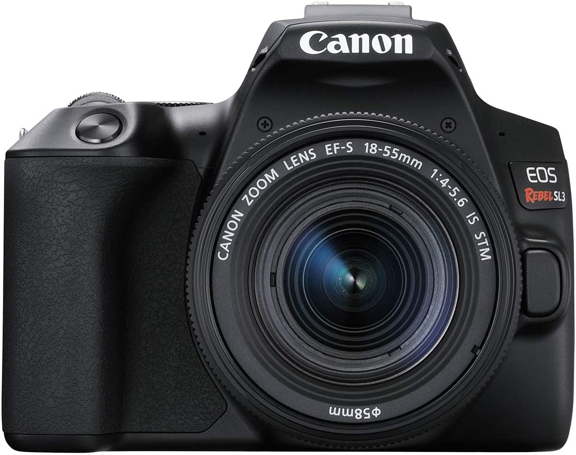 Amazon Com Canon Eos Rebel Sl3 Digital Slr Camera With Ef S 18 55mm Lens Kit Built In Wi Fi Dual Pixel Cmos Af And 3 0 Inch Vari Angle Touch Screen Black Camera Photo