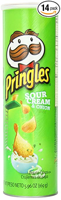 Pringles Sour Cream and Onion Super Stack, 5.96 Ounce (Pack of 14)