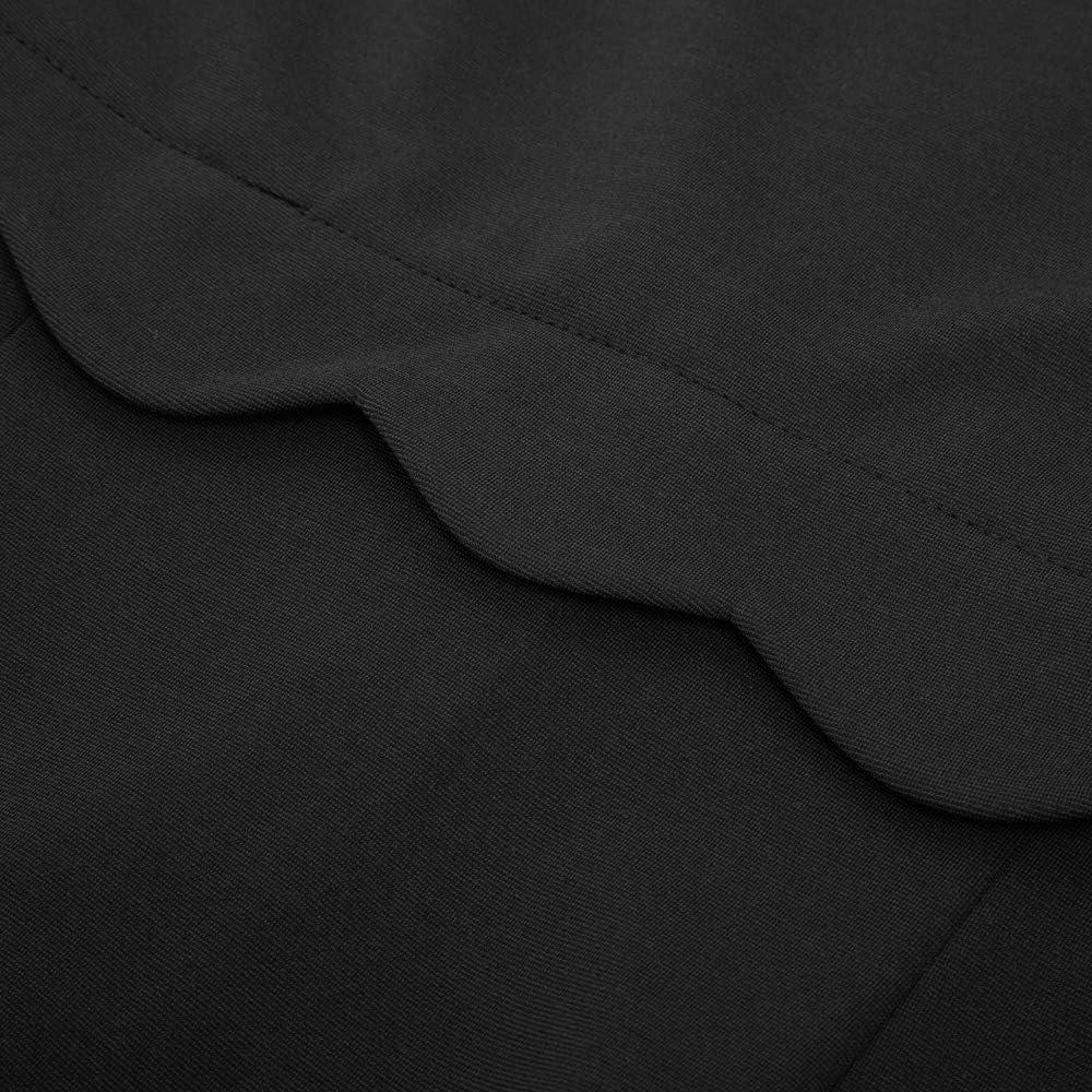 GRACE KARIN Vestido de Mujer Tubo Escote Irregular Manga Corta Ceremonia Escote