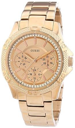 Guess Mini Phantom - Reloj en acero inoxidable chapado para mujer, color dorado: Amazon.es: Relojes