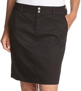 6c7b95233 Amazon.com: IZOD Junior's Uniform Twill Flat Front Skirt: Clothing