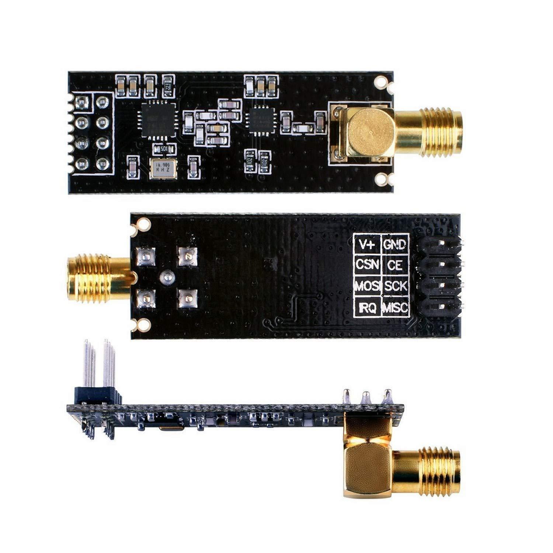 2.4G 1100m NRF24L01+PA+LNA SMA Antenna Arduino Compatible EU041 QooTec Wireless Transceptor M/ódulo de Comunicaci/ón RF Set of 3