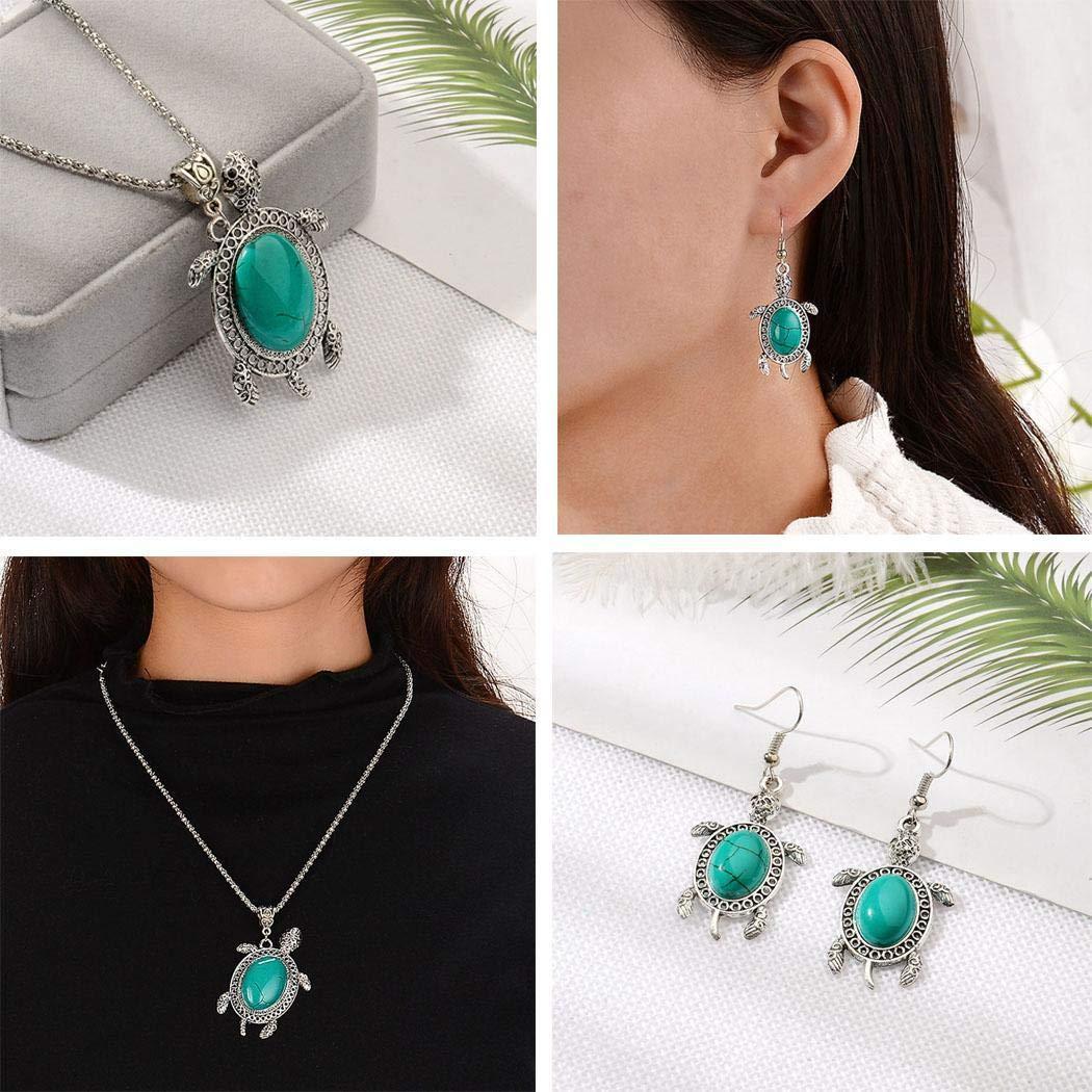 Ensemble de bijoux 3 pi�ces pour femmes de Meihet avec pr�sentoirs de collier avec pierres pr�cieuses boh�miennes et artificielles