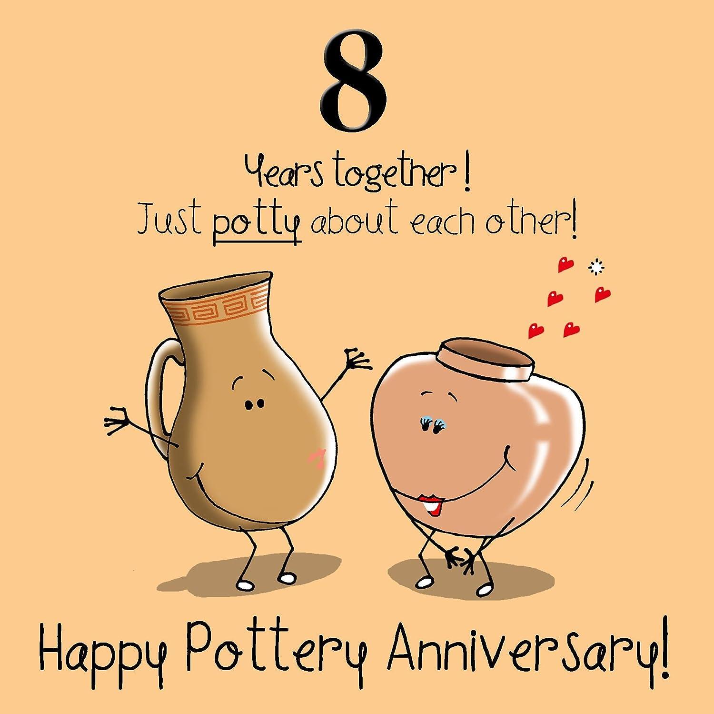 On Your 8th Wedding Anniversary Card 8 Years Bronze Anniversary