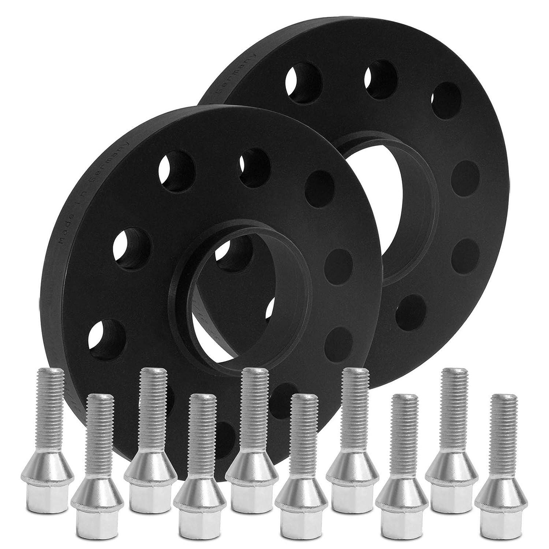 12182W/_16/_M1215KE42S BlackLine Spurverbreiterung 40mm mit Schrauben silber 5x110 65,1mm 20mm