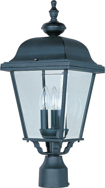 Captivating Maxim 3008BK Builder Cast Aluminum Outdoor Post Lighting 9 By 24 Inch U2013  Outdoor Light Fixtures
