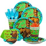 Scooby Doo Birthday Party Kit Serves 8 - Plates, Napkins, Cups, Spoons. Forks, Knives