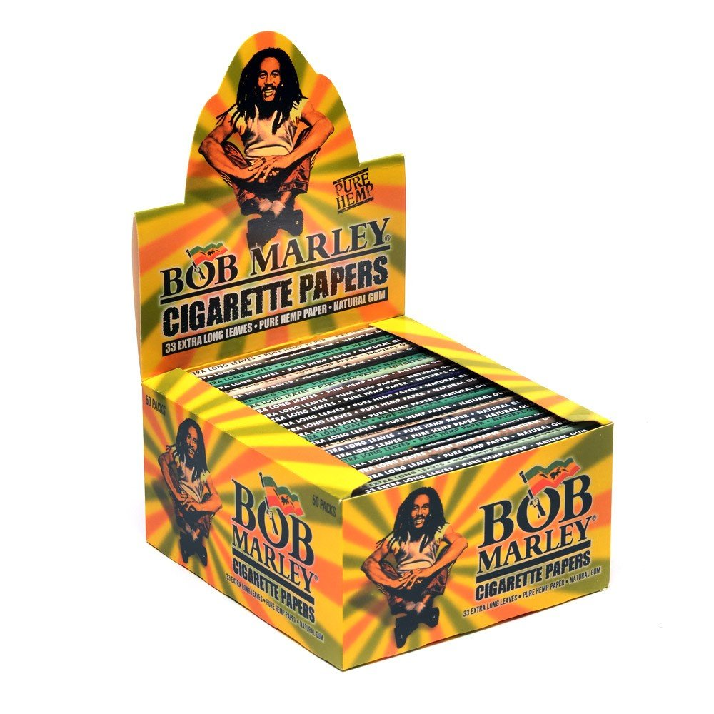 Bob Marley Rolling Papers King Size (2 Boxes - 50 Units per Box) - MJ-115