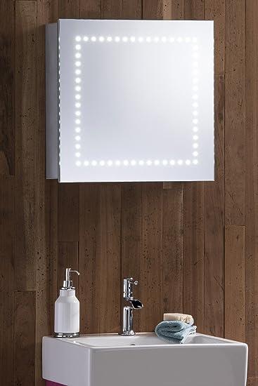 Hervorragend Amazon.de: LED beleuchtet Badezimmer Spiegelschrank 50 cm (H) X 50  AB82