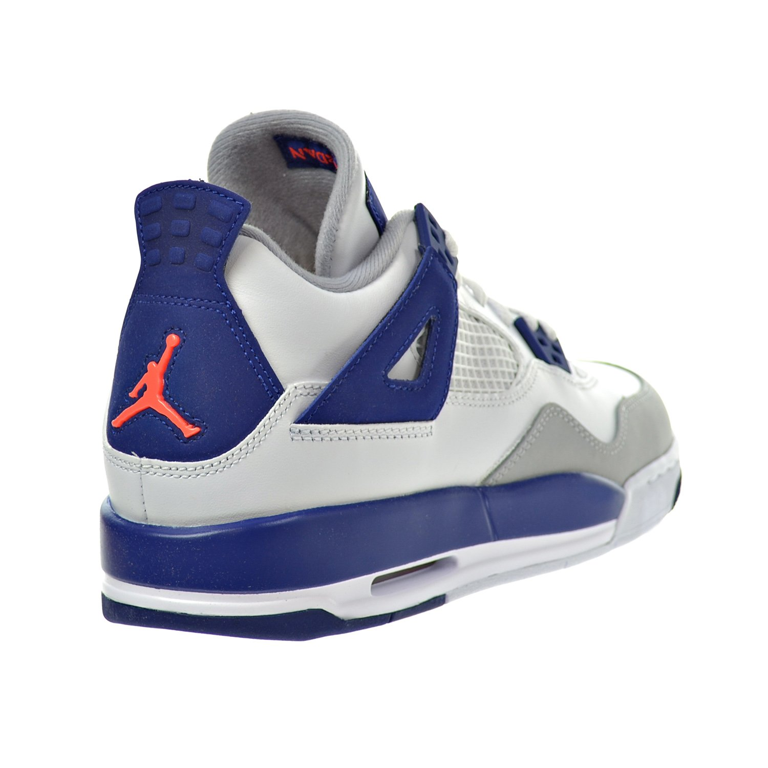 newest 99ae8 e49bf Amazon.com   Jordan Air 4 Retro GG Big Kid s Shoes White Hyper Orange Deep  Royal Blue Wolf Grey 487724-132 (6 M US)   Basketball