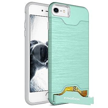 d3ab12ff68 Fogeek iPhone7ケースカード収納 スタンド機能搭載 iPhone8ケース耐衝撃 衝撃吸収 便利 (