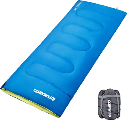 Compression Bag Included FUNDANGO 3-4 Season Compact Warm Sleeping Bags with Hood for Outdoor Camping Backpacking Hiking