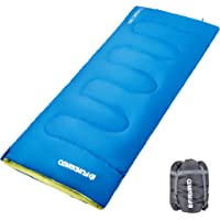 FUNDANGO Adults Envelope Sleeping Bags for Camping Backpacking Hiking, 17/39.2/59 Degrees F, Lightweight, With Compressed Sack