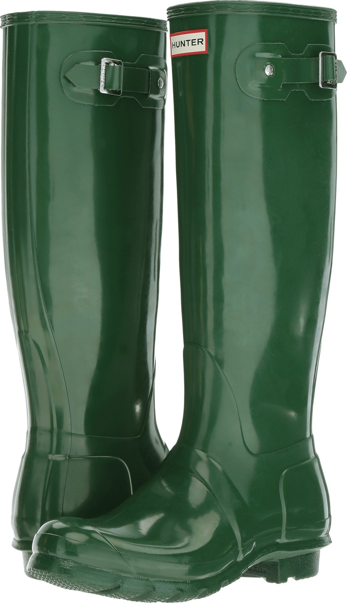 Hunter Women's Original Tall Gloss Green Shoe