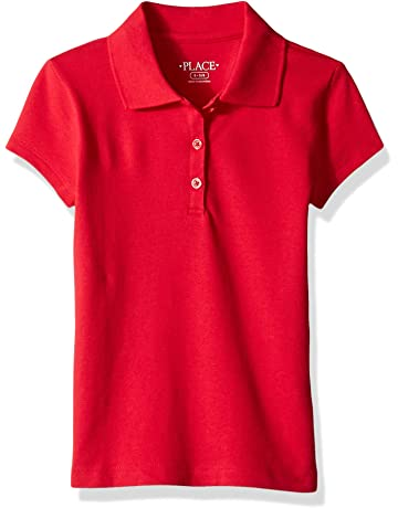 28c7a836aa5 The Children s Place Girls  Uniform Short Sleeve Polo