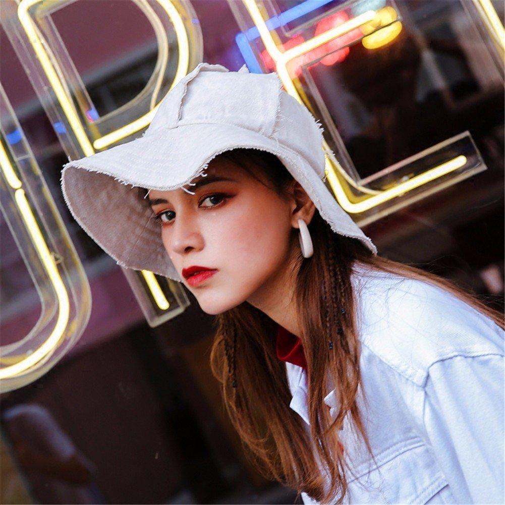 Vintage donne cappello Fashion Fisherman Hat incantevole Floppy Hat benna calda Hat,Bianco