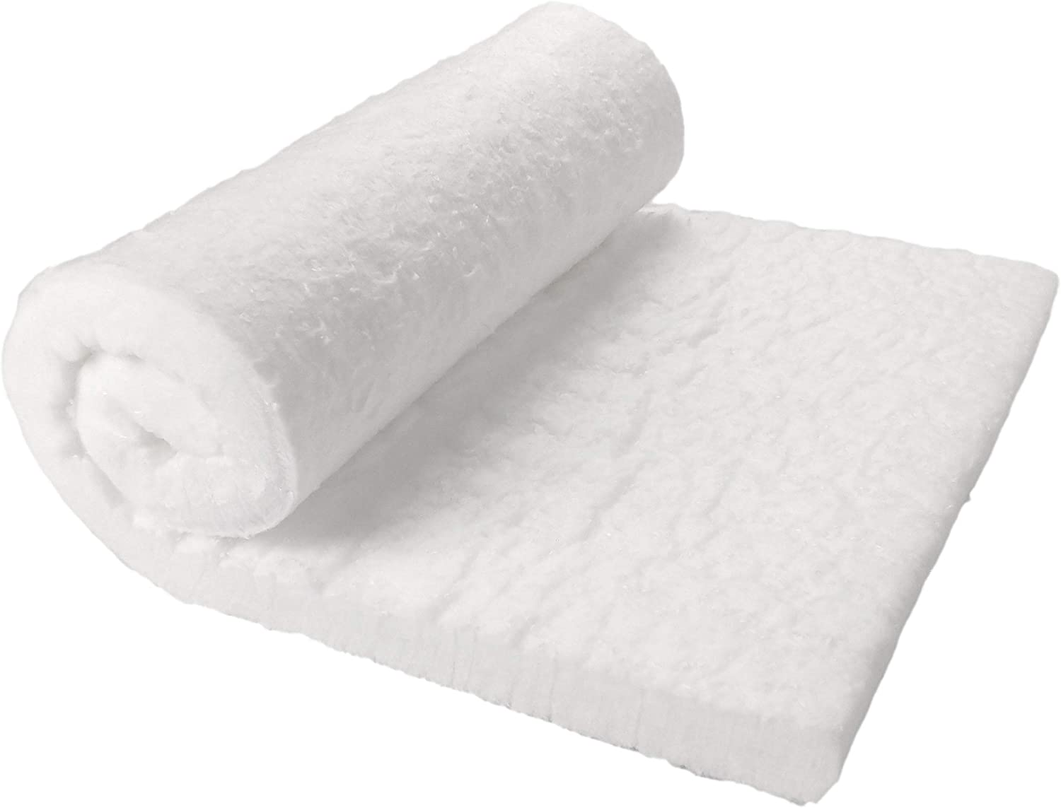 "Lynn Manufacturing Kaowool Ceramic Fiber Insulation, 1"" Thick 12"" x 24"", 2400F Fireproof Insulation Blanket, 3023E"