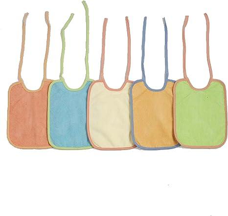 BOLIN BOLON-1345784012200-Lote de 5 baberos de rizo, 100% algodón ...