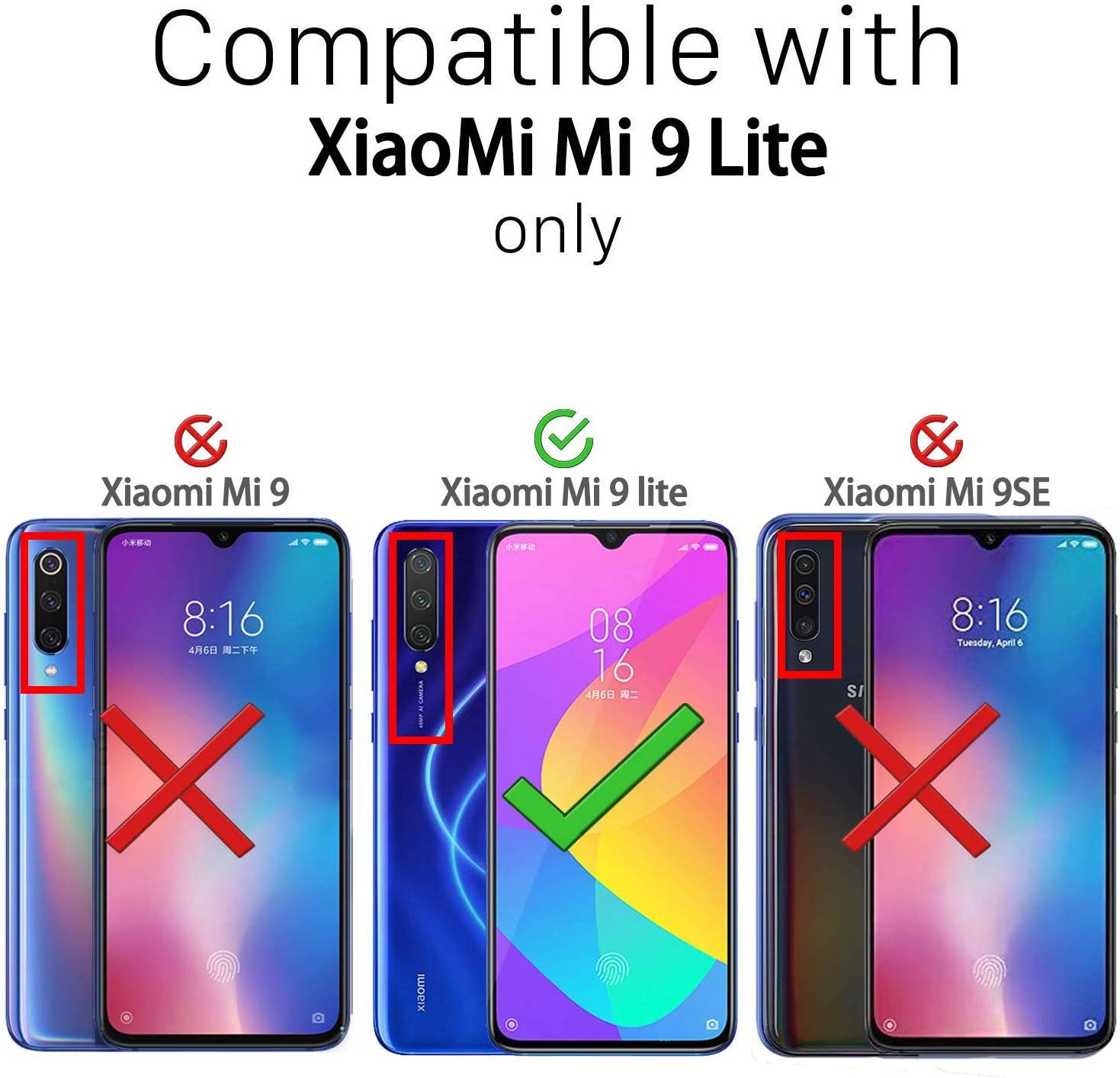 Glitter Crystal Compatible con Funda Xiaomi Mi 9 Lite, Brillo Bling Brillante Purpurina Diamantes Carcasa Ultrafino Suave Silicona TPU y Dura PC Bumper Case Cover: Amazon.es: Electrónica
