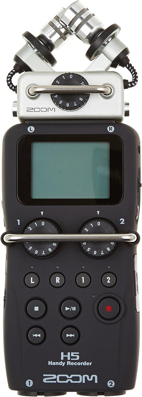 Zoom H5 - Grabador de voz (digital, de 4 pistas, portátil), color negro