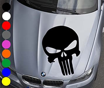 Wdesigns Autoaufkleber The Punisher Totenkopf Aufkleber