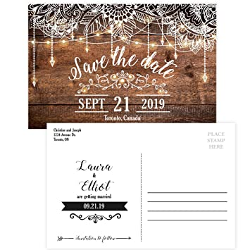 amazon com custom rustic wedding save the date invitation