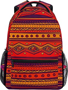 Oarencol Bohemian Indian Tribes African Backpack Vintage Art Bookbag Daypack Travel School College Bag for Womens Mens Girls Boys