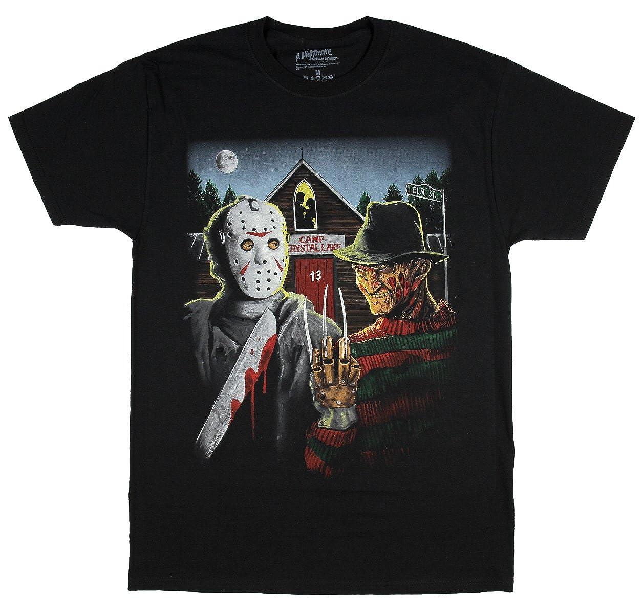 Fashion A Nightmare On Elm Street Freddy Krueger & Jason Graphic T-shirt