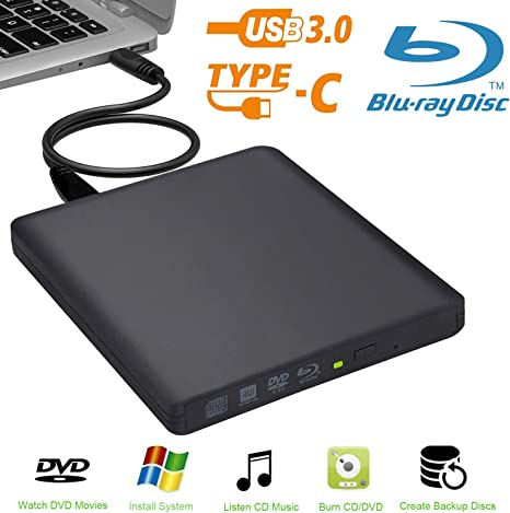 usb3.0 Aluminio 6 x Externa Unidad grabadora de BLU-Ray 3D BLU-Ray ...